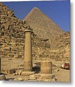 The Great Pyramids Giza Egypt  Metal Print
