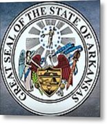 The Great Seal Of The State Of Arkansas Metal Print