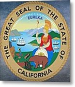 The Great Seal Of The State Of California Metal Print