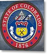 The Great Seal Of The State Of Colorado Metal Print