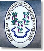 The Great Seal Of The State Of Connecticut Metal Print