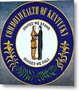 The Great Seal Of The State Of Kentucky  Metal Print