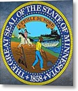 The Great Seal Of The State Of Minnesota Metal Print