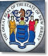 The Great Seal Of The State Of New Jersey Metal Print
