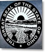 The Great Seal Of The State Of Ohio  Metal Print