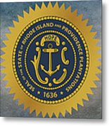 The Great Seal Of The State Of Rhode Island Metal Print