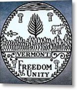 The Great Seal Of The State Of Vermont Metal Print