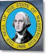 The Great Seal Of The State Of Washington Metal Print