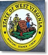 The Great Seal Of The State Of West Virginia Metal Print