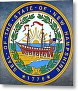The Great Seal Of The State Of New Hampshire Metal Print