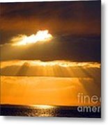 The Great Sun Meets The Great Salt Lake Metal Print