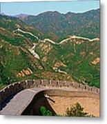 The Great Wall At Badaling In Beijing Metal Print