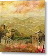 The Great Wall Of China Metal Print by Catf