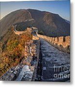 The Great Wall Of China Mutianyu China Metal Print