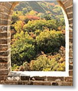 The Great Wall Window Metal Print