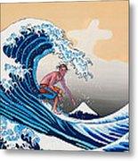 The Great Wave Amadeus Series Metal Print