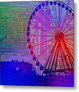 The Great  Wheel Cubed Metal Print
