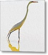 The Greater Egret With Style Metal Print
