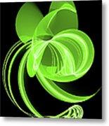 The Green Cat Metal Print