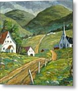 The Green Hills Metal Print