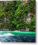 The Green Sea Metal Print by Vijinder Singh