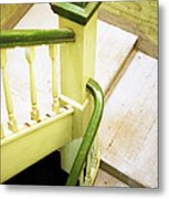 The Green Stairwell Metal Print