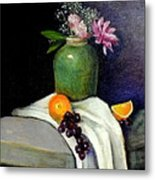 The Green Vase Metal Print by Lenore Gaudet