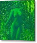 The Green Wood Nymph Calls Metal Print
