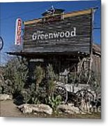 The Greenwood Dancehall And Saloon Bluff Dale Texas Metal Print