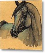 The Grey Arabian Horse 1 Metal Print