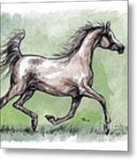 The Grey Arabian Horse 8 Metal Print