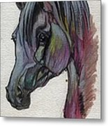 The Grey Horse Drawing 1 Metal Print