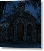 The Grotto By Moonlight Metal Print