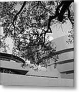 The Gugenheim In Black And White Metal Print
