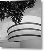 The Guggenheim Museum In Black And White Metal Print