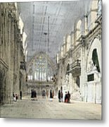 The Guildhall, Interior, From London As Metal Print