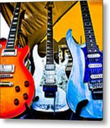 The Guitars Of Jimmy Dence - The Kingpins Metal Print by David Patterson