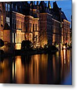 The Hague By Night Metal Print