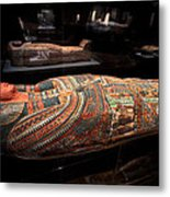 The Hall Of Ancient Egypt Mummy Room Metal Print