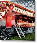 The Halloween Ride Metal Print