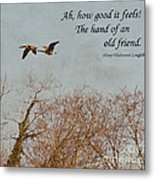 The Hand Of Friendship Metal Print