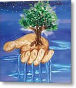 The Hand Of The Lord Metal Print