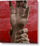 The Hand That Opens In The Sun Metal Print