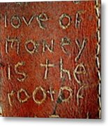 Handmade Wallet For The Love Of Money From New Orleans Louisiana  Metal Print