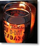 The Happy Birthday Toast Metal Print