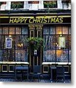 The Happy Christmas Pub Metal Print