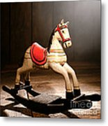 The Happy Little Rocking Horse In The Attic Metal Print
