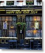 The Happy New Year 2014 Pub Metal Print