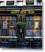 The Happy New Year Pub Metal Print
