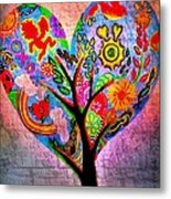 The Happy Tree Metal Print by Denisse Del Mar Guevara